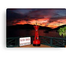 Saba Rock Sunset Canvas Print