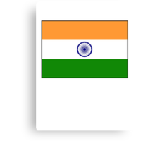 India Flag, The National flag of India, pure & simple Canvas Print