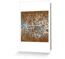 Distressed Maps: His Dark Materials Lyra's Oxford Greeting Card
