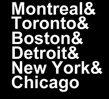 Original Six Cities by kthad