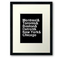 Original Six Cities Framed Print