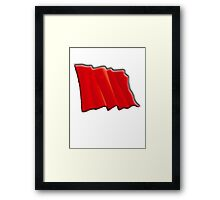 Red Flag, Communist, Labour party, Left wing, Workers Union Framed Print