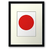 Circle of the sun, Japanese Flag, National Flag of Japan, Hinomaru;  Framed Print