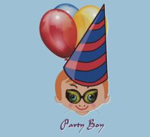Party Boy 10 T-shirt design by Dennis Melling