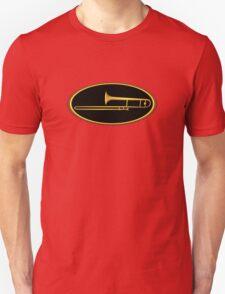 Trombone Gold Oval T-Shirt