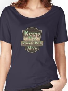 Keep The Rock&roll Alive  Vintage Women's Relaxed Fit T-Shirt