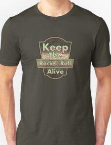 Keep The Rock&roll Alive  Vintage Unisex T-Shirt