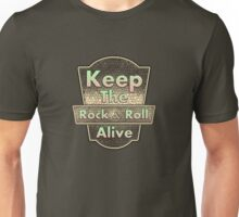 Keep The Rock&roll Alive  Vintage Unisex T-Shirt