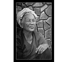WOMAN AT THE MARKET Photographic Print