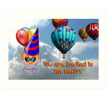 Toon Boy 10b - You Are Invited to My Party Art Print