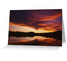 Lake Bennett Sunset Greeting Card