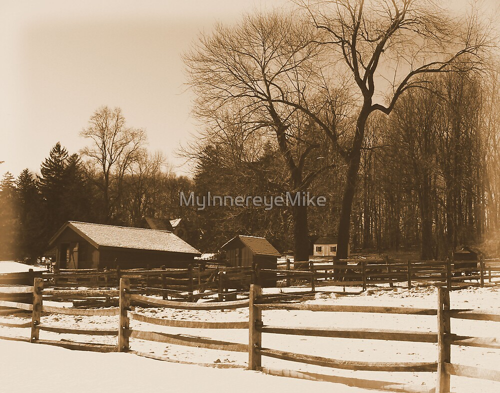 #37  The Farm In winter Snow by MyInnereyeMike