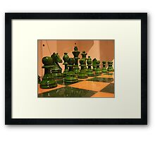 #46    Chess Pieces Framed Print