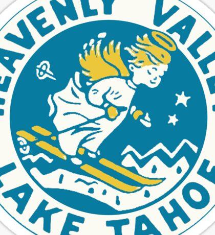 Heavenly Valley Lake Tahoe Vintage Travel Decal Sticker