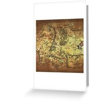 Distressed Maps: Lord of the Rings Middle Earth Greeting Card