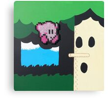 Kirby NES (Paints 'n' Beads) Canvas Print
