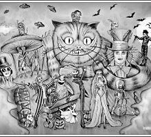 Tim Burton Homage by mark-chaney