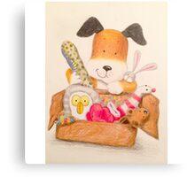 Childrens Classic kipper the dog Canvas Print