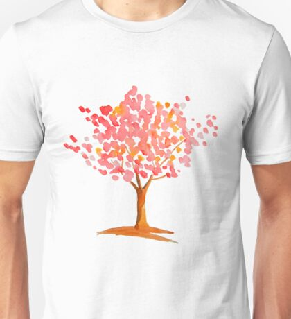 Pink tree. Unisex T-Shirt