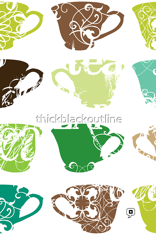 Green Tea by thickblackoutline
