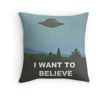 I WANT TO BELIEVE - X-FILES Throw Pillow