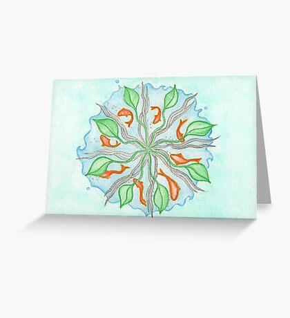 The Fish Mandala Greeting Card
