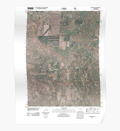 USGS TOPO Map Colorado CO Grover SE 20110114 TM Poster