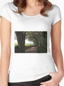 Forest walks  Women's Fitted Scoop T-Shirt