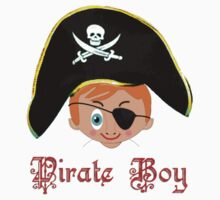 Toon Boy 14 Pirate Boy T-shirt design Kids Clothes