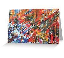 COASTAL FOLLIES oil on canvas Greeting Card