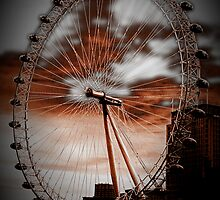 London eye by Deborah Parkin