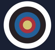 Bulls Eye, Right on Target, MOD Roundel, on BLACK by TOM HILL - Designer