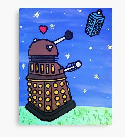 Dalek and Tardis Canvas Print