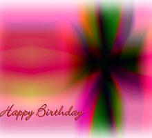 Gift ribbon birthday card by cherryannette