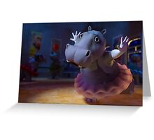 Hippo Ballet Greeting Card