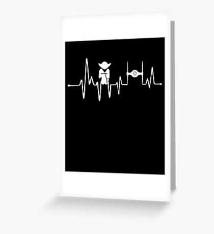 Yoda Heartbeat - Pulse Greeting Card