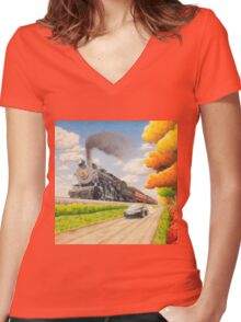 Sugar Creek Run Women's Fitted V-Neck T-Shirt
