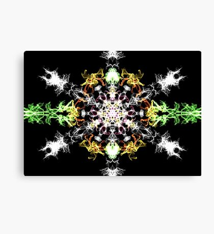 Psychedelic Snow Flake Canvas Print