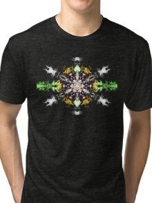 Psychedelic Snow Flake Tri-blend T-Shirt