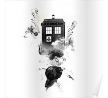 Doctor who TARDIS ink paint Poster