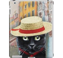 Venetian Gondolier Cat Art iPad Case/Skin