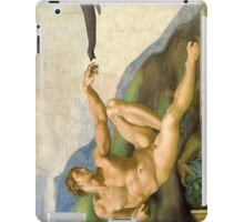 The Original Creation Of Adam With Elephant iPad Case/Skin