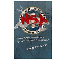 NSA Orwell Photographic Print