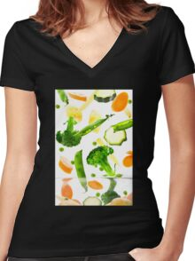 Healthy Vegetables Women's Fitted V-Neck T-Shirt