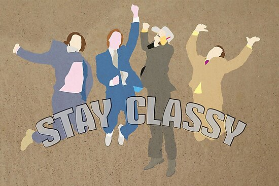 The Channel 4 news team (Stay classy) by SixPixeldesign