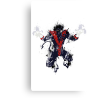 Splatter Paint Classic Nightcrawler Canvas Print