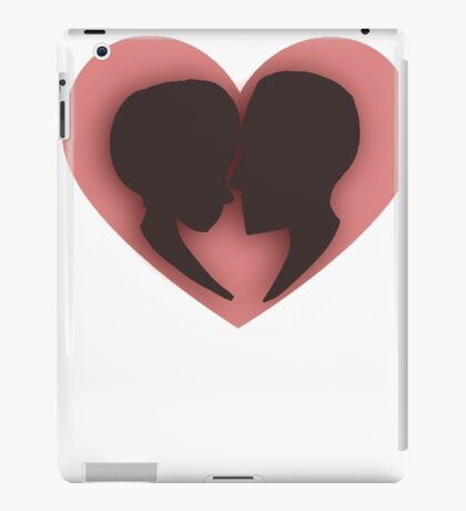 Pink/red couple heart valentines  iPad Case/Skin