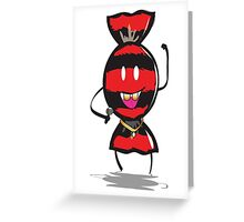 Candy rapper Greeting Card