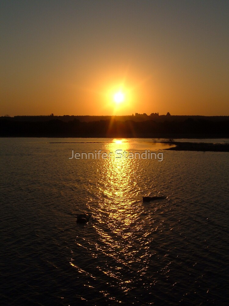 African sunset by Jennifer Standing