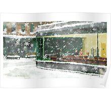 Christmas Nighthawks Poster